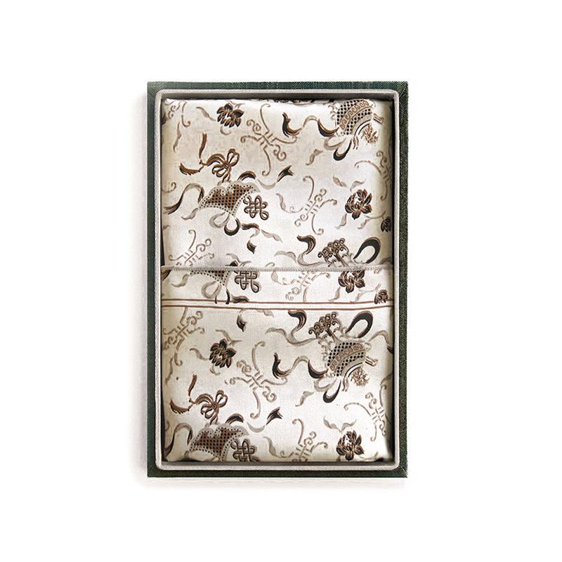 Silk Scarf - Grey, Ivory