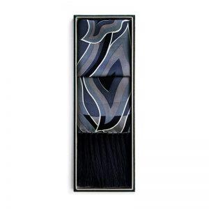 Silk Shawls - Mendung Black