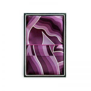 Silk Scarves - Mendung Purple