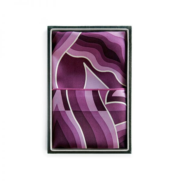Silk Scarves - Mendung Purple