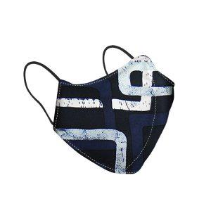 Blue Design Guci Silk Face Mask
