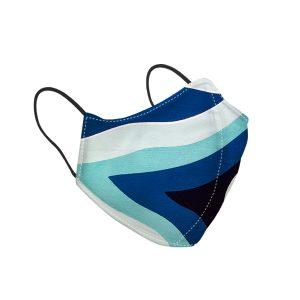 Blue Pattern Silk Face Mask