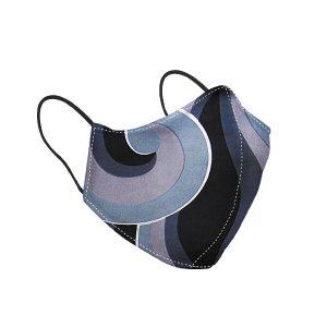 Black Pattern Silk Face Mask